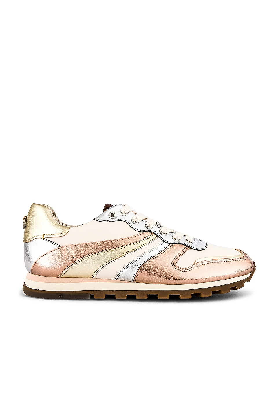 Coach 1941 C118 Wave Patchwork Runner in Rose Gold & Gold