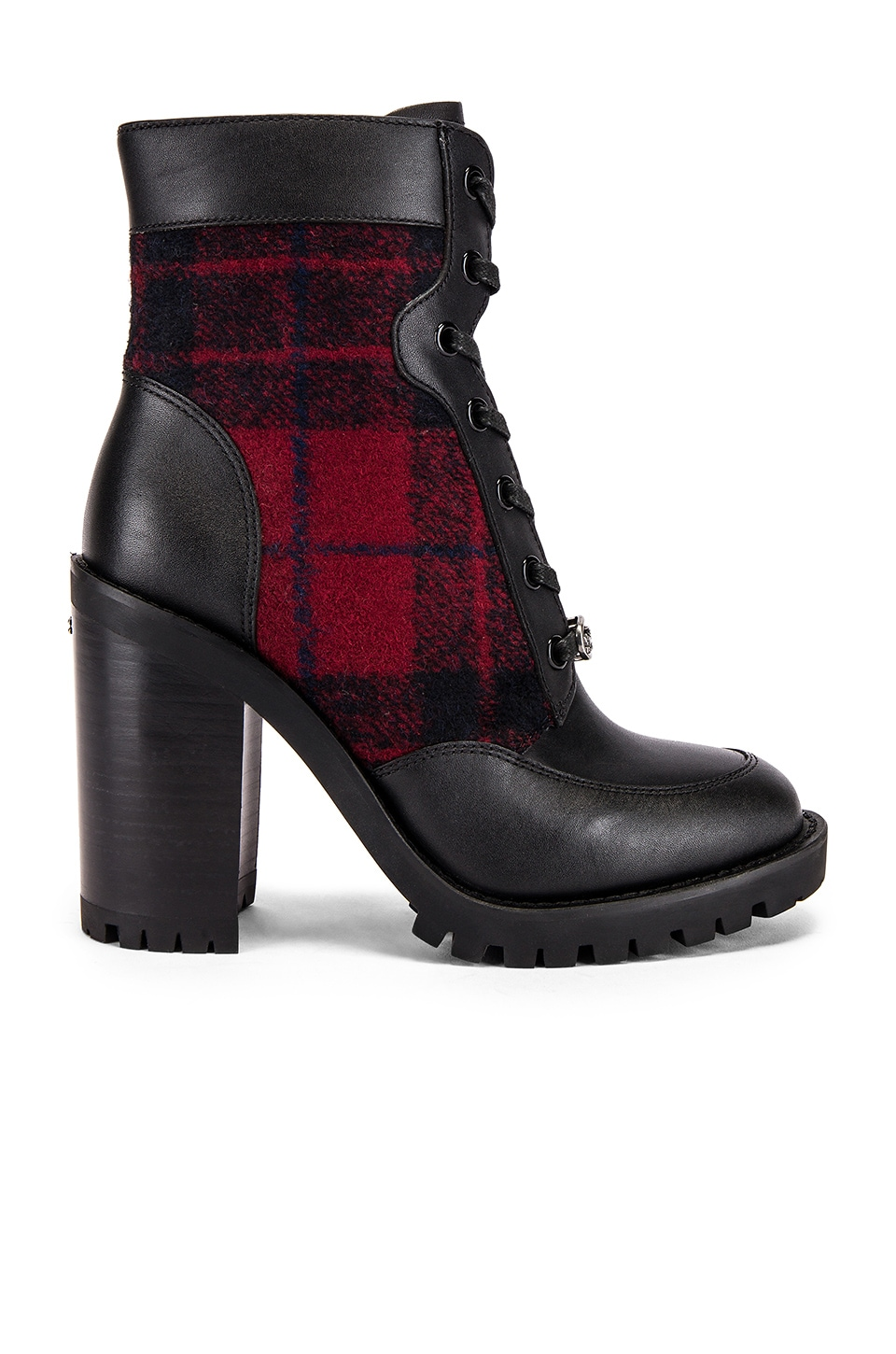 Coach 1941 Hedy Lace Up Bootie in Red & Black