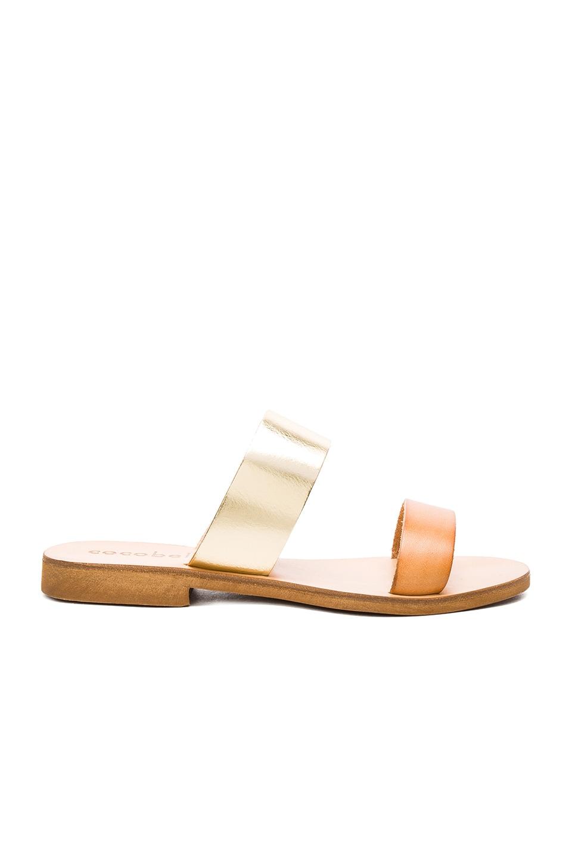 cocobelle Leather Slide Sandal in Natural