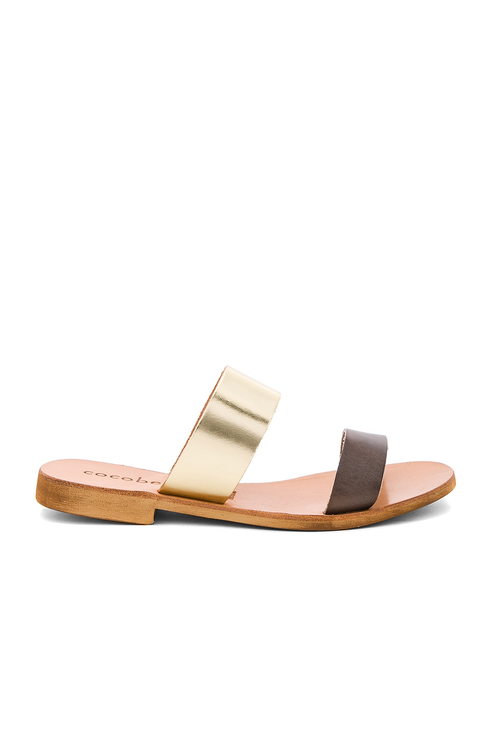 Leather Slide Sandals by Cocobelle