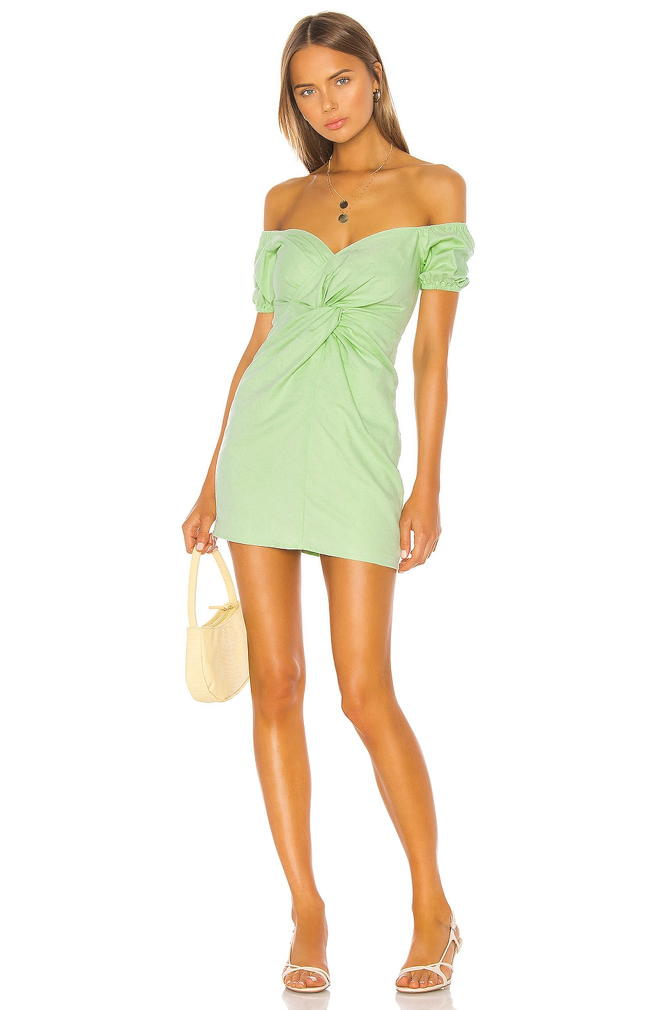 Camila Coelho Georgie Dress in Soft Mint