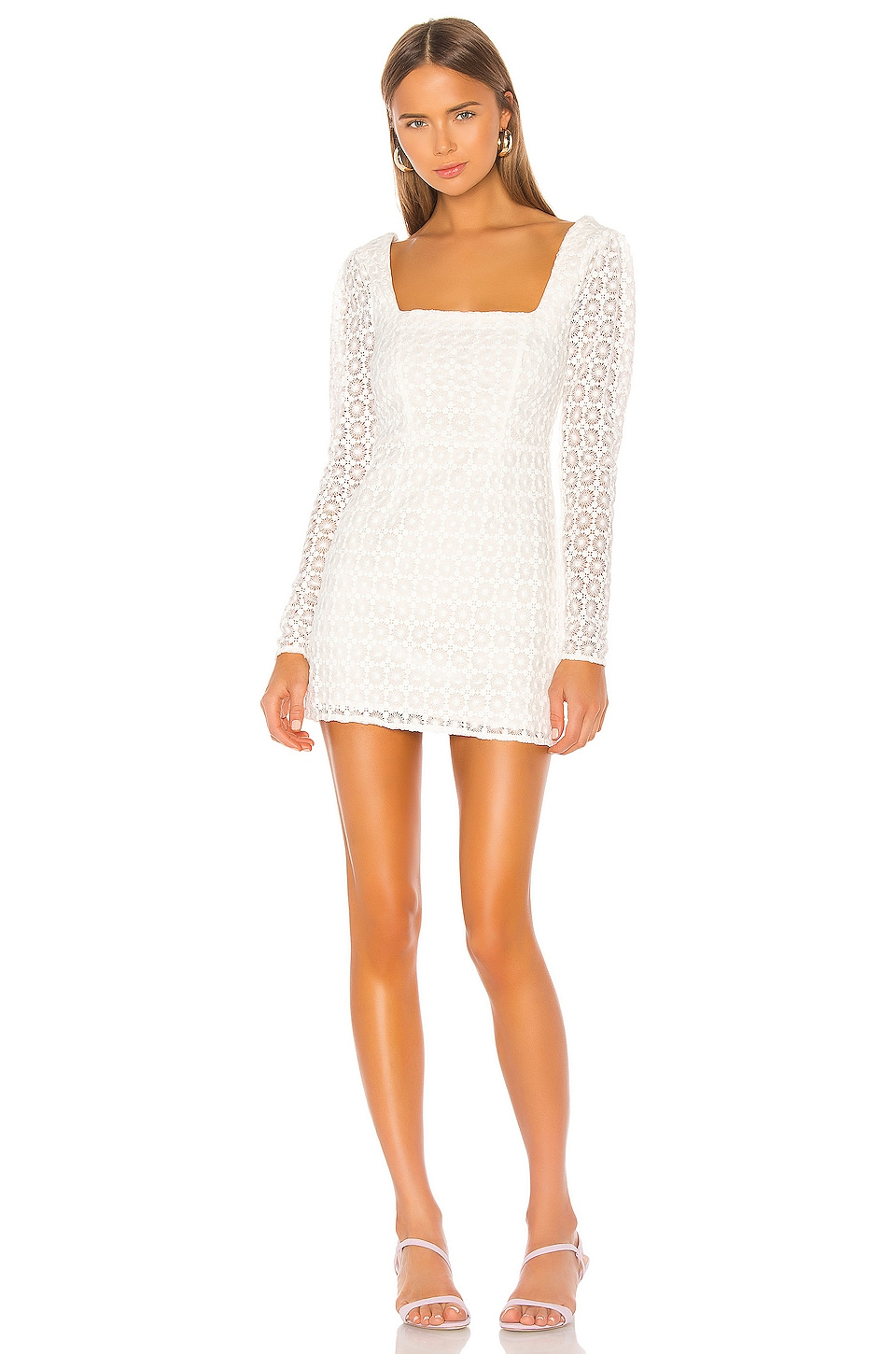 Camila Coelho Trista Mini Dress in Ivory