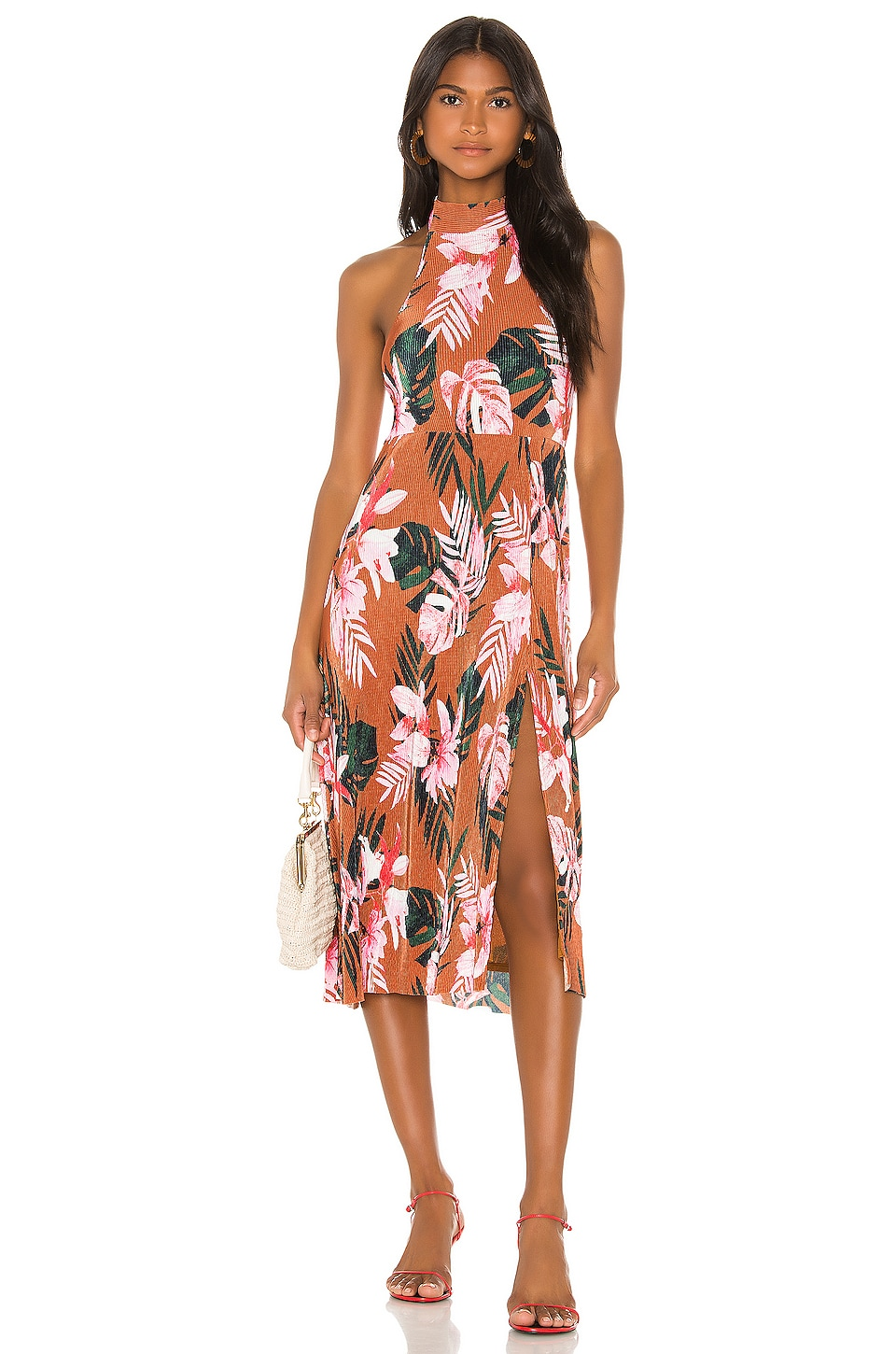 Camila Coelho Cassy Midi Dress in Floral Tropics