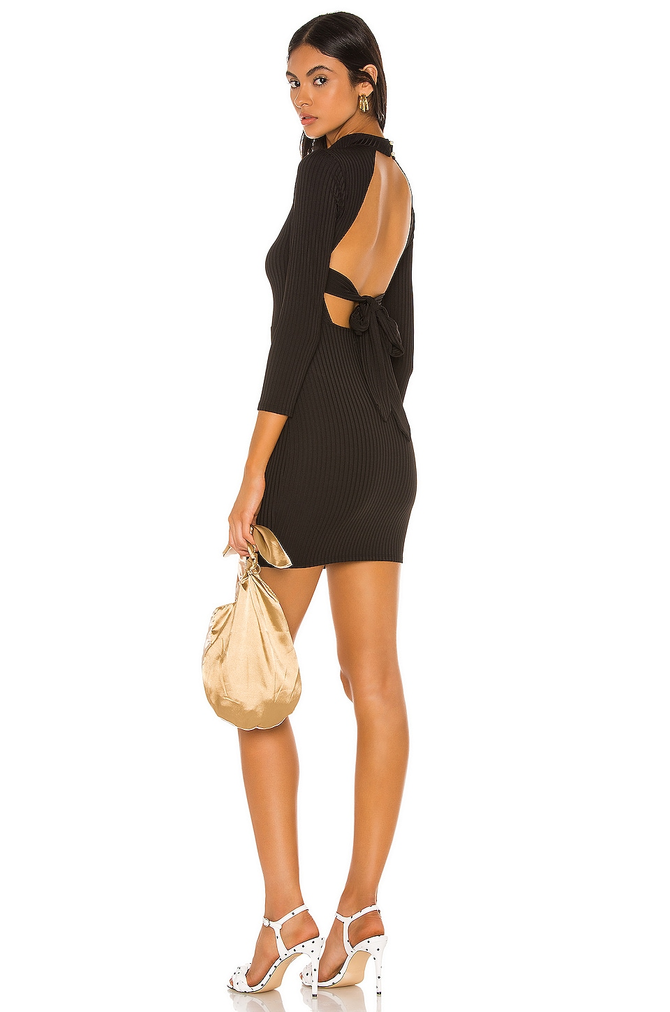 Camila Coelho Antonella Mini Dress in Black