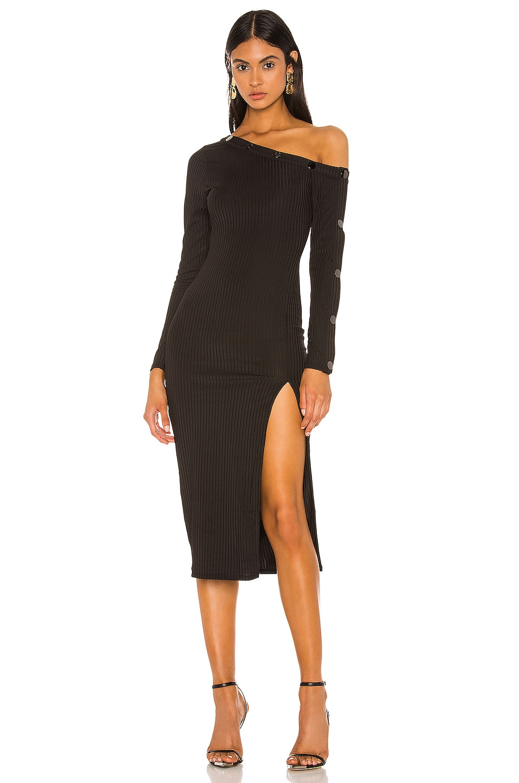 Camila Coelho Margarida Midi Dress in Black
