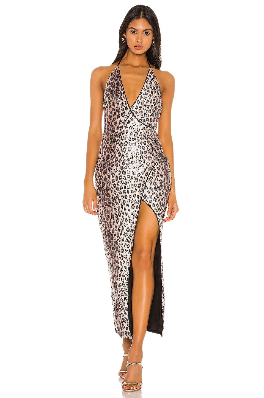 Camila Coelho Calista Gown in Leopard