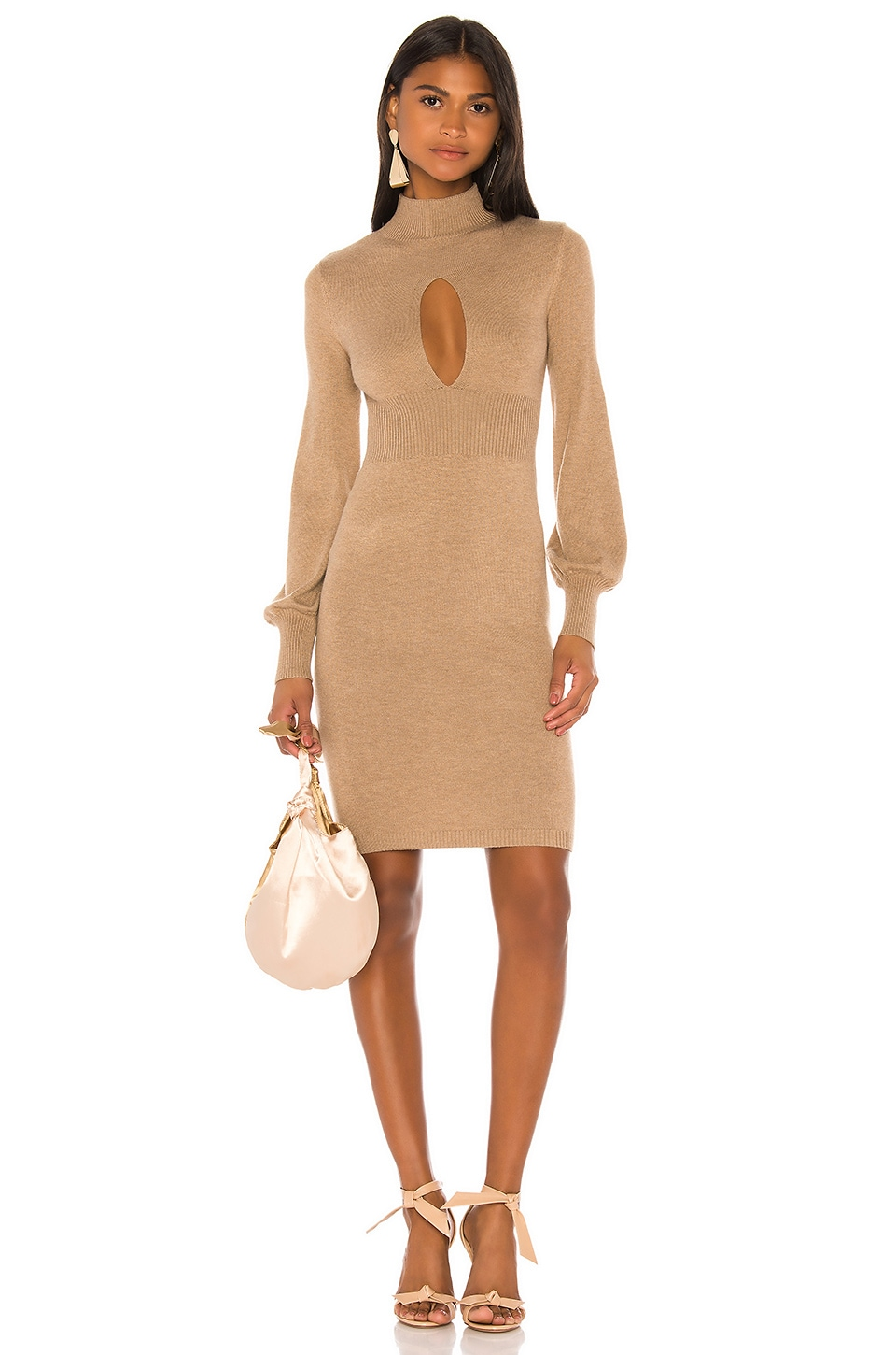 Camila Coelho Elise Dress in Camel
