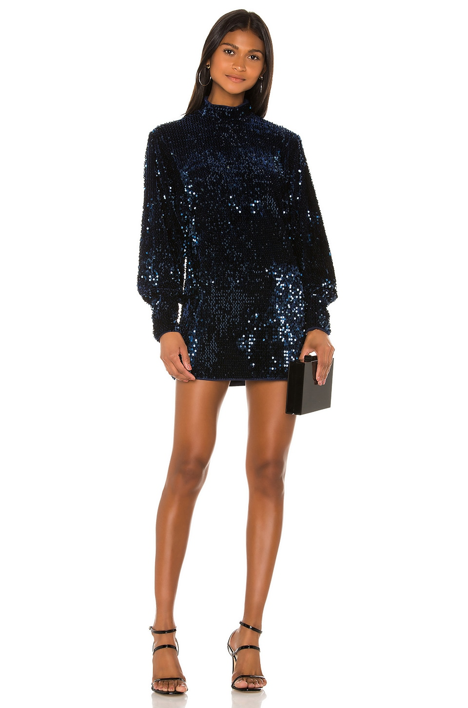 Camila Coelho Jezabel Mini Dress in Midnight Blue