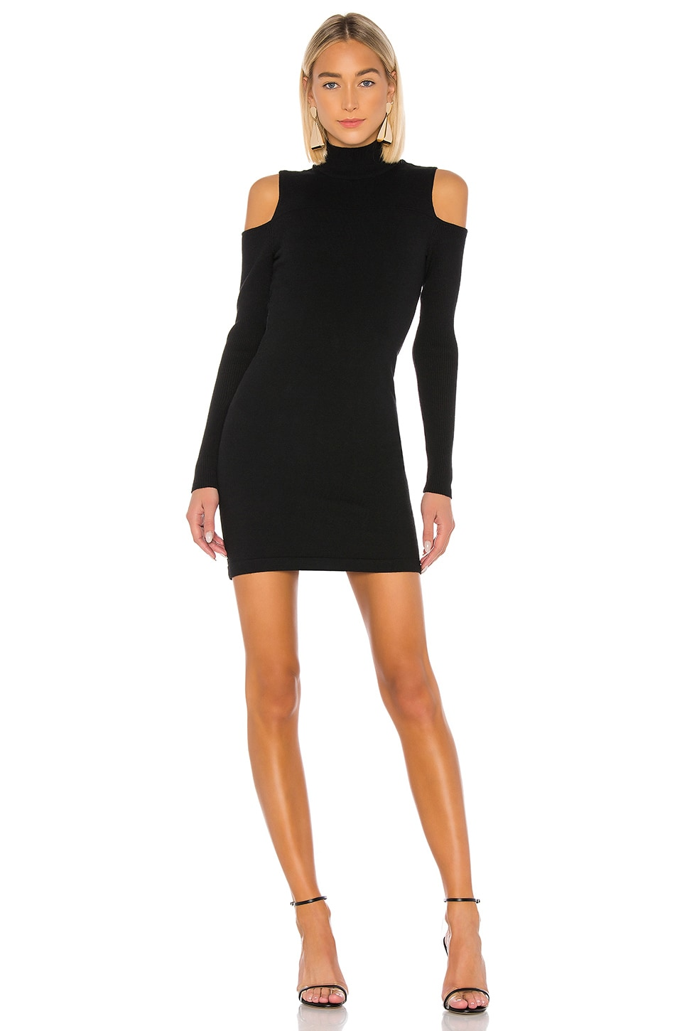 Camila Coelho Taylor Sweater Dress in Black