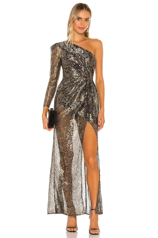Camila Coelho Danitza Gown in Gold and Black