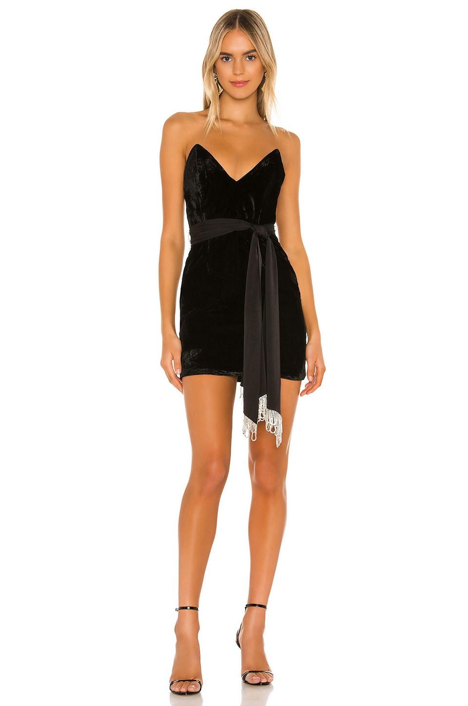 Camila Coelho Jaylene Mini Dress in Black