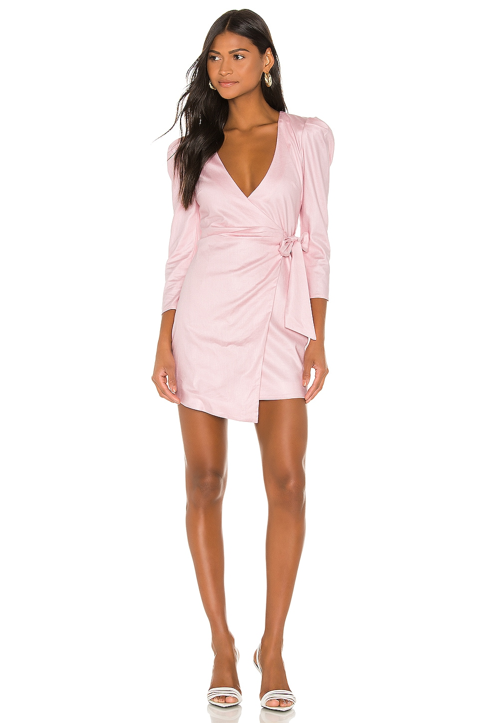 Camila Coelho Alejo Mini Dress in Pink Lemonade