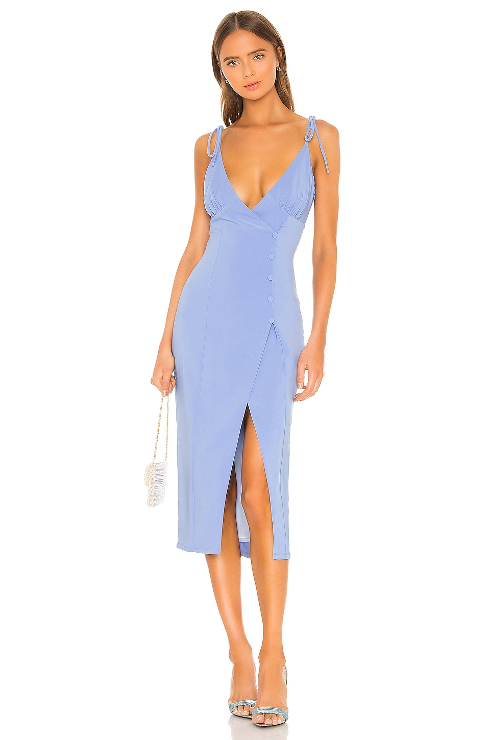 Camila Coelho Aaliyah Midi Dress in Periwinkle Blue