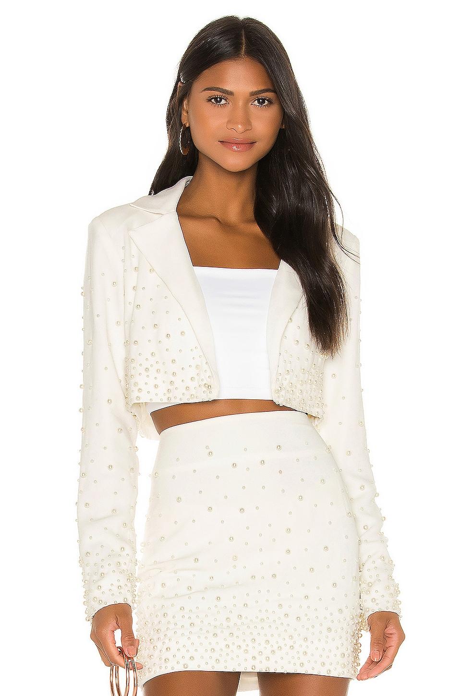 Camila Coelho Sofiya Jacket in Ivory Pearl