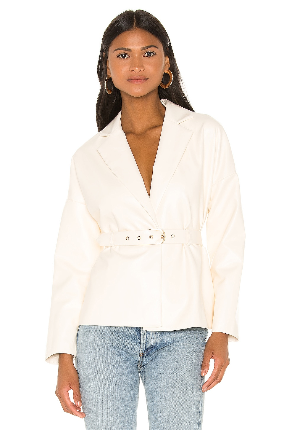 Camila Coelho Bruna Jacket in Ivory