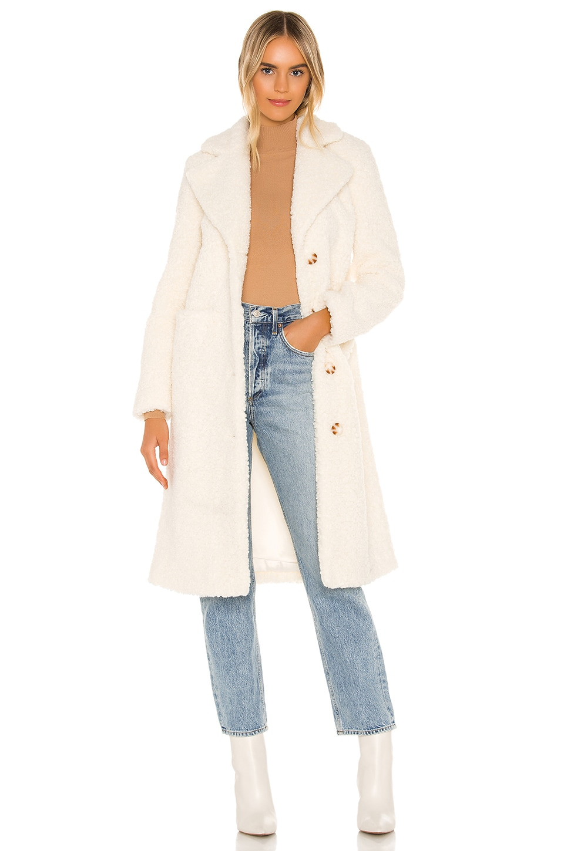 Camila Coelho Mirabelle Teddy Coat in Ivory