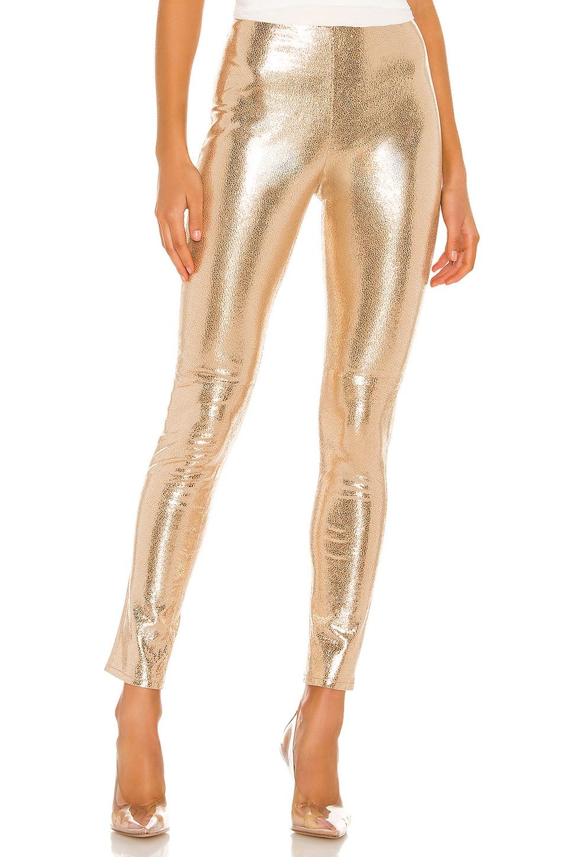 Camila Coelho Lais Leather Legging in Gold