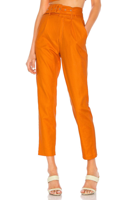 Camila Coelho Quinn Trouser in Desert Orange
