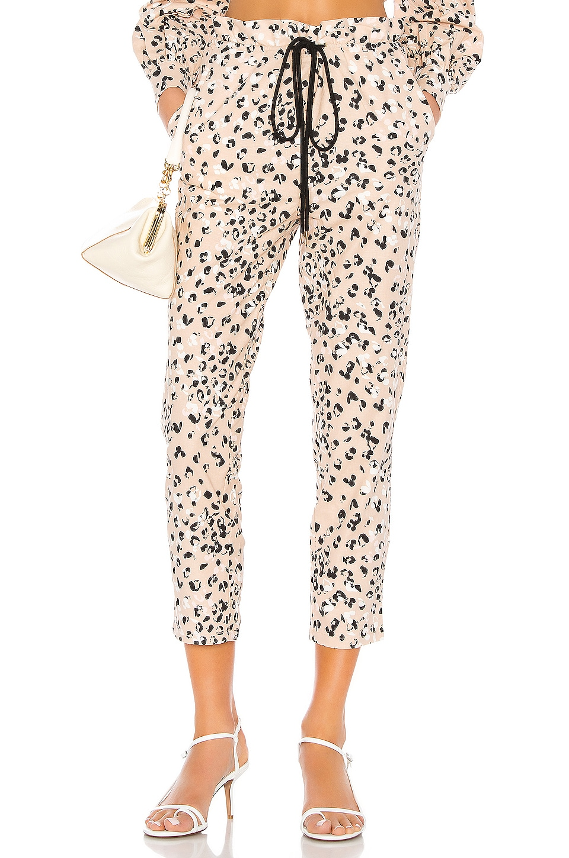 Camila Coelho Wren Pant in Tan Leopard