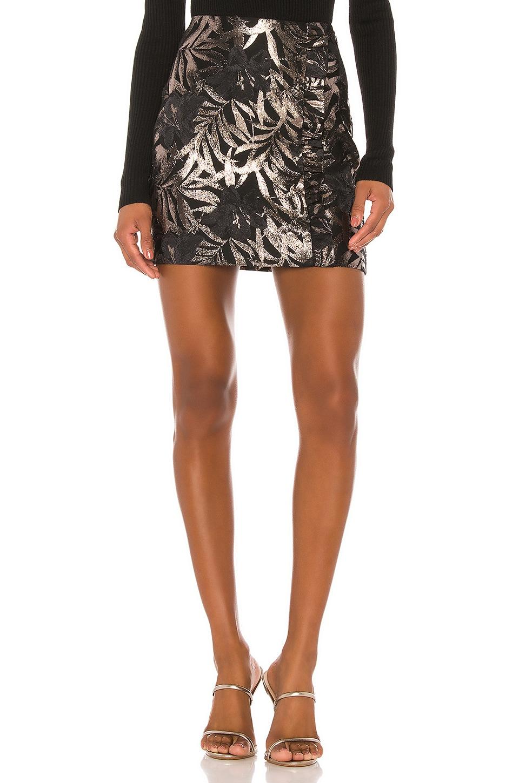 Camila Coelho Lea Mini Skirt in Black and Silver