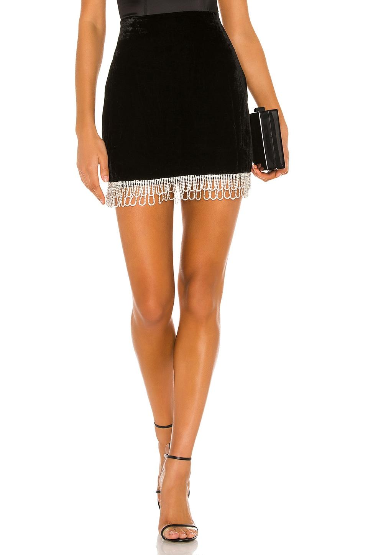 Camila Coelho Onika High Waisted Skirt in Black