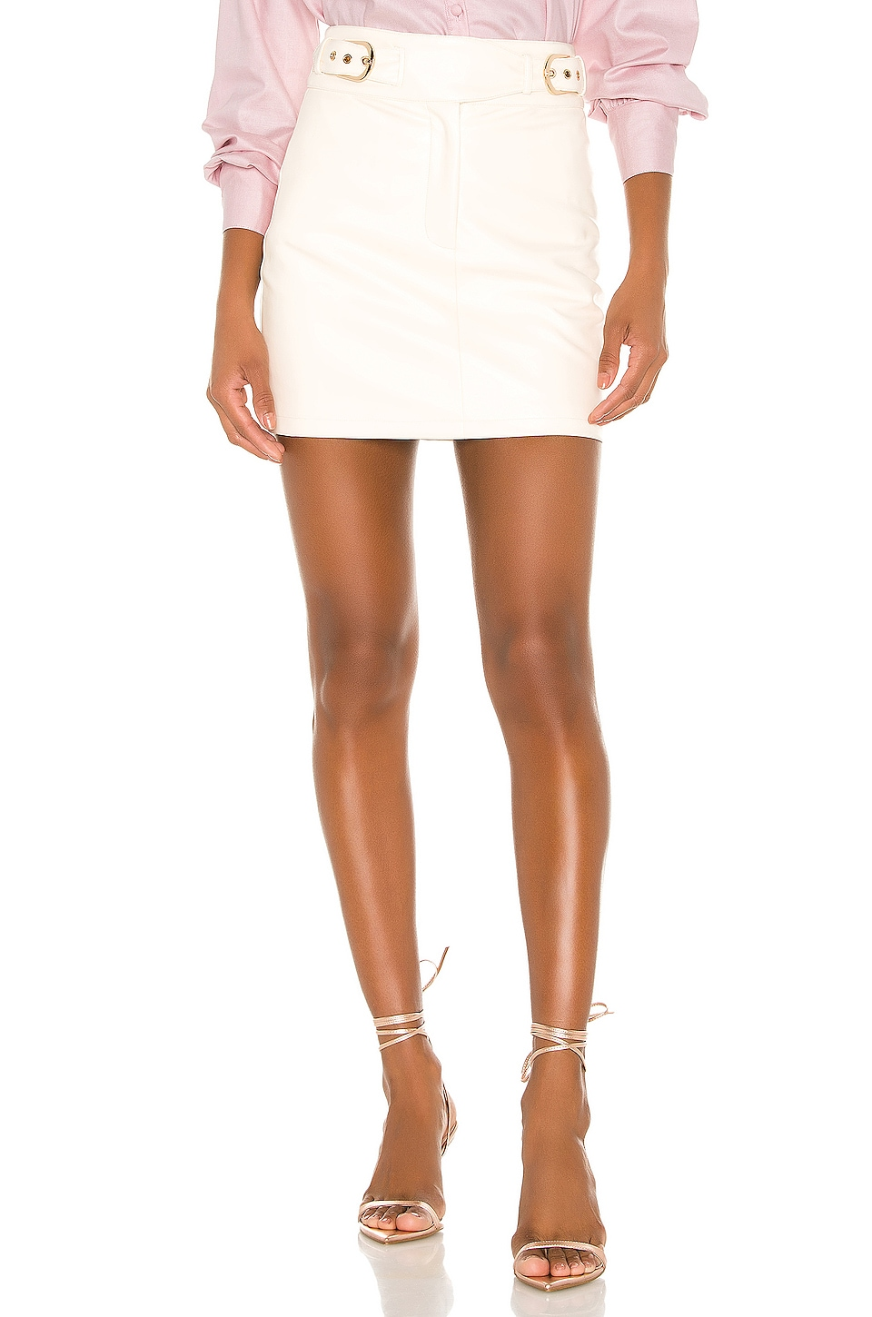Camila Coelho Isabela Mini Skirt in Ivory