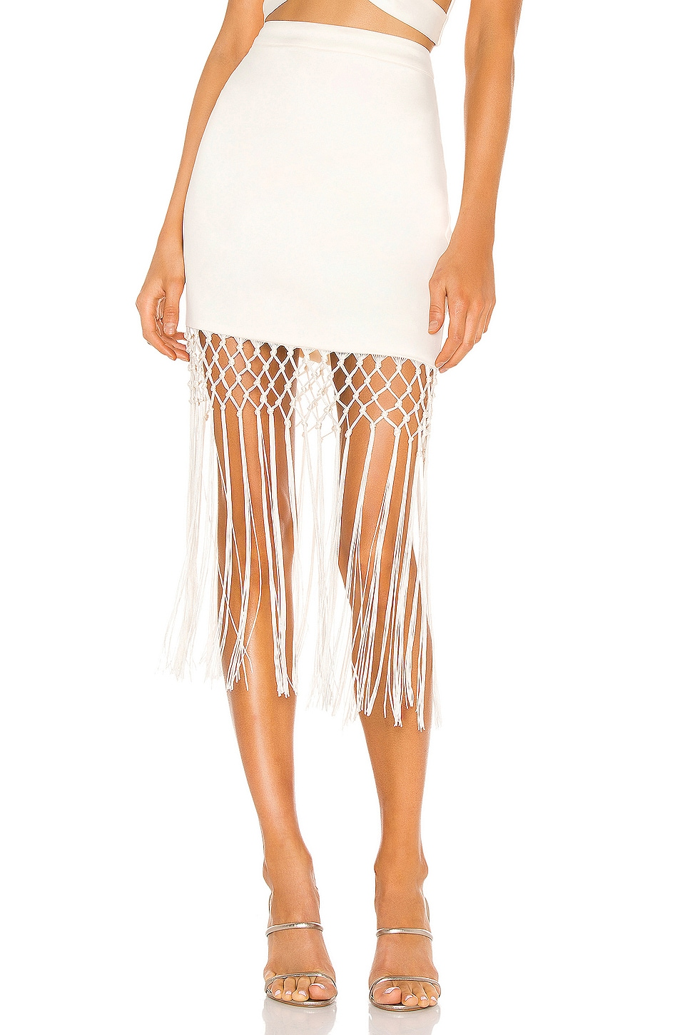 Camila Coelho Mora Mini Skirt in Pearl White