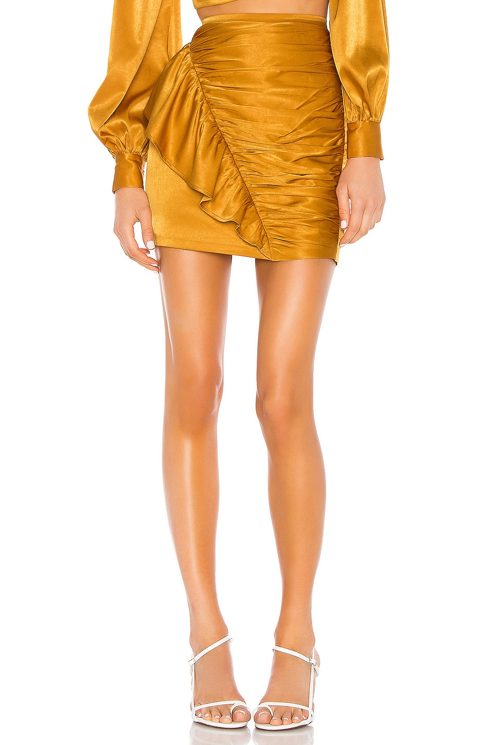 Camila Coelho Kaylee Mini Skirt in Gold