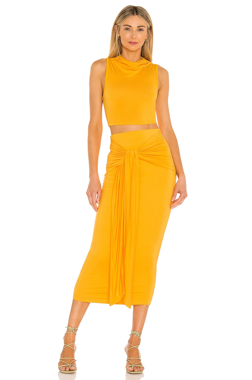 Camila Coelho Pixie Skirt in Tangerine Orange
