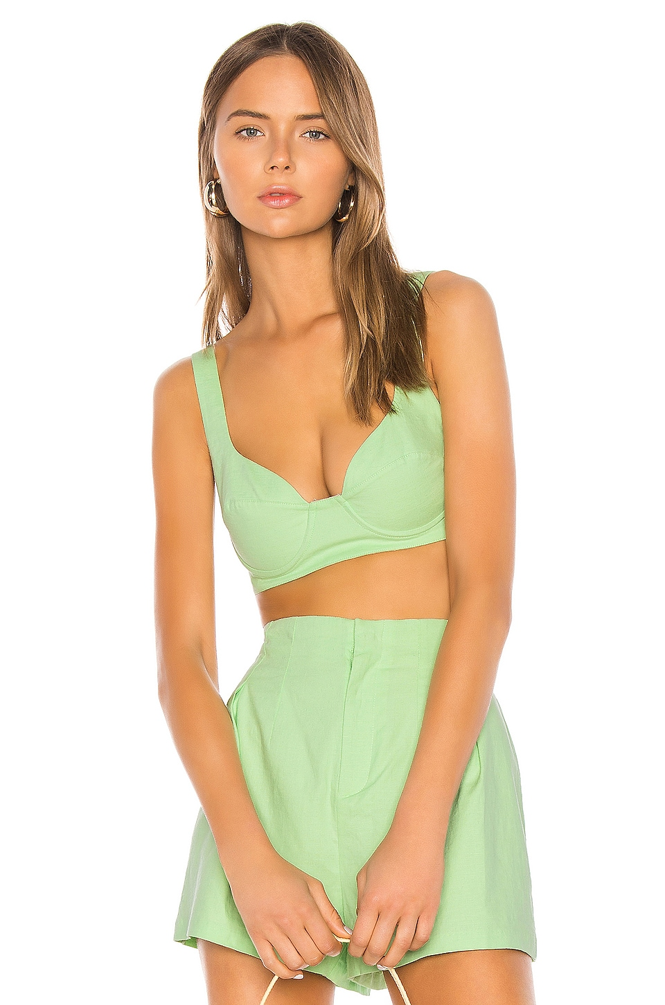 Camila Coelho Connor Top in Soft Mint