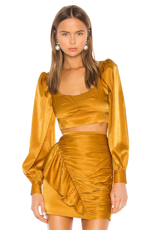 Camila Coelho Gabriella Top in Gold