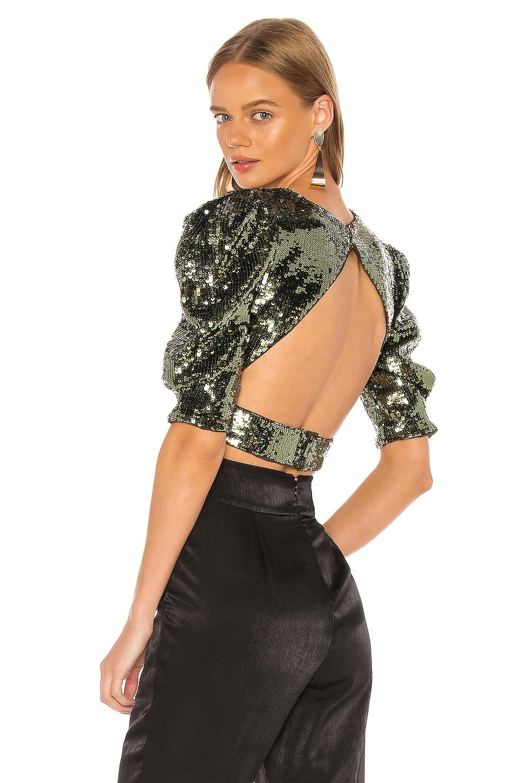 Camila Coelho Giselle Top en Olive Green