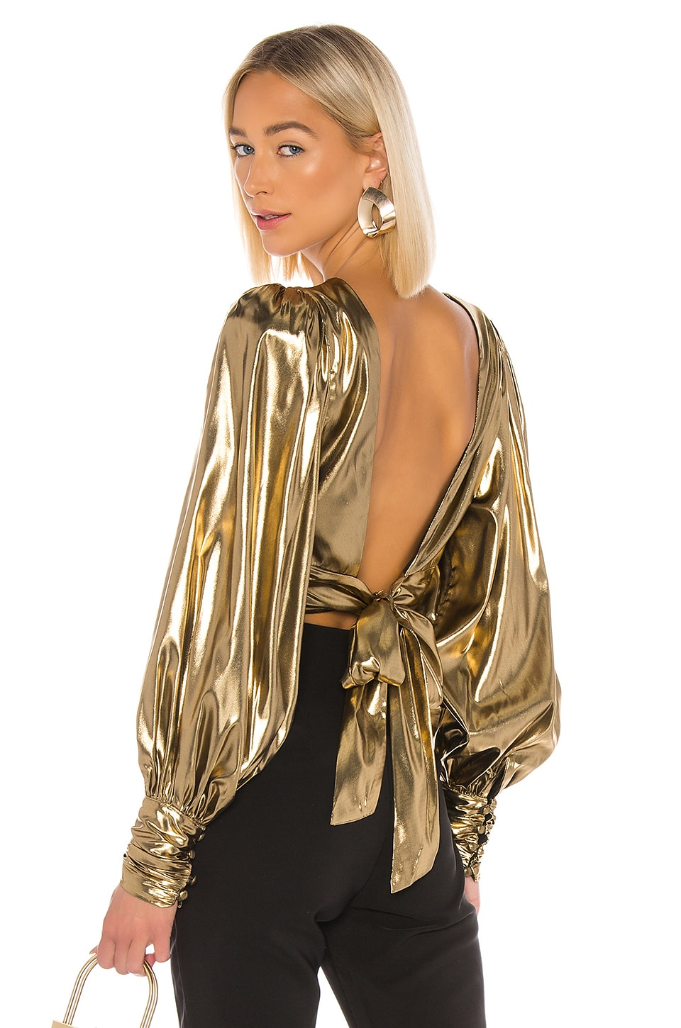 Camila Coelho Ariella Top in Gold