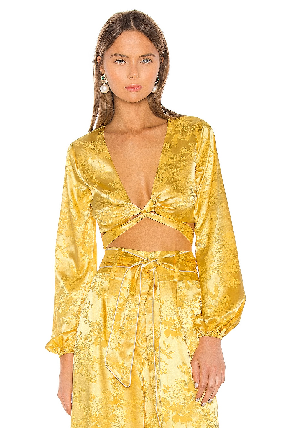 Camila Coelho Sonia Top in Golden Yellow