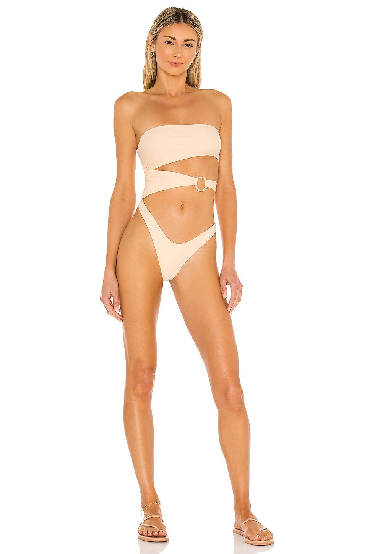 Camila Coelho Dylla One Piece in Creme