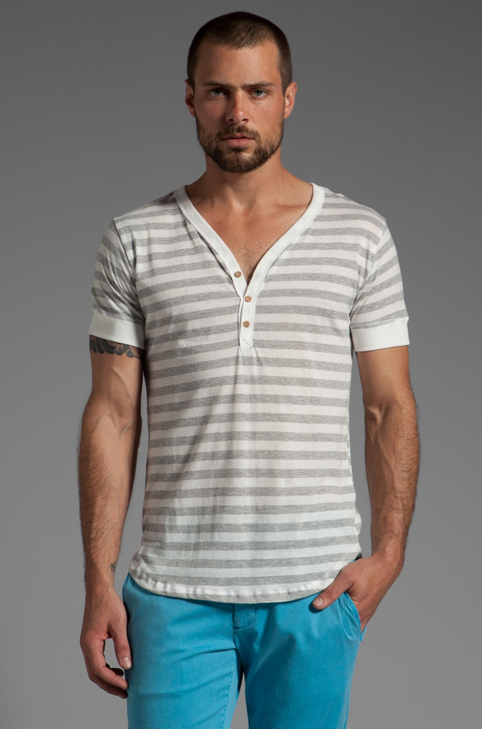 Cohesive & co. White Stripe Short sleeve in White