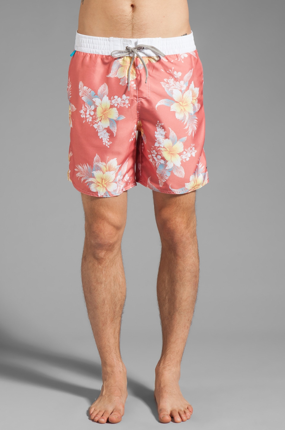 Cohesive & co. Bermuda Floral Boardshort in Cantaloupe