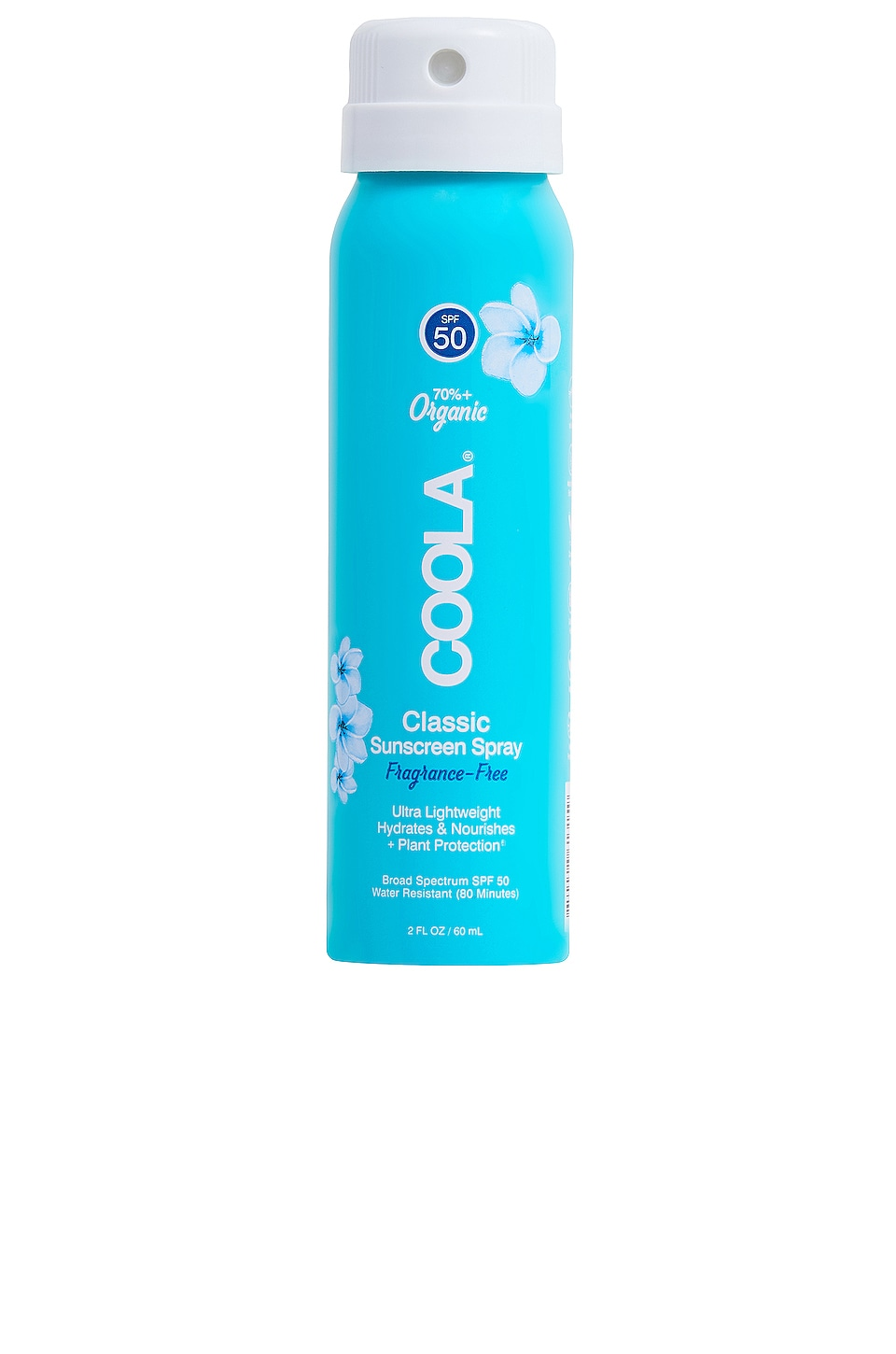 COOLA Travel Body SPF 50 Unscented Sunscreen Spray
