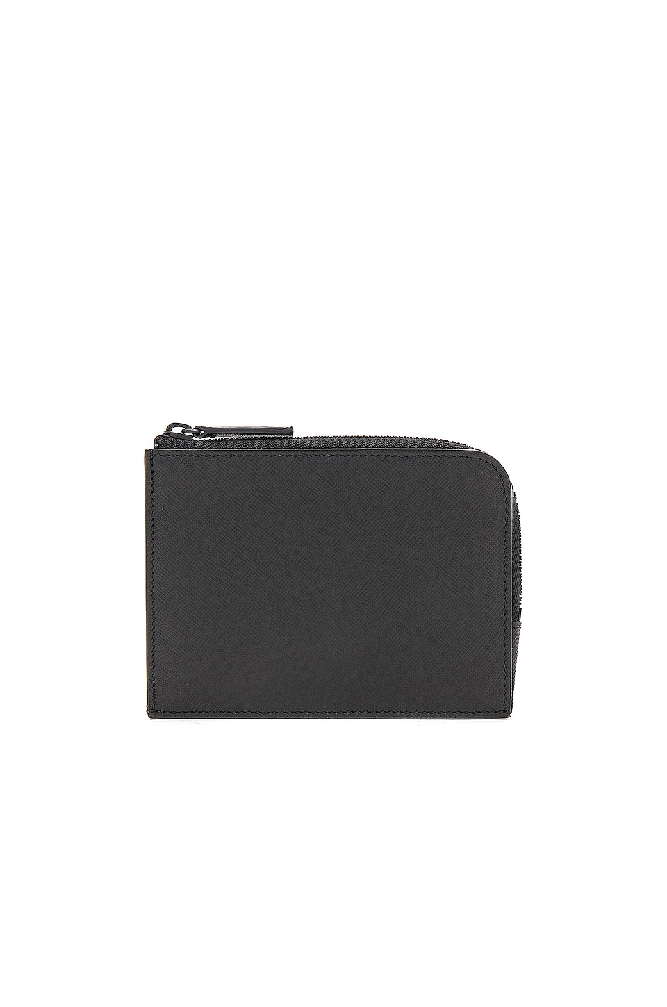 Common Projects Saffiano Leather Zipper Wallet in Black