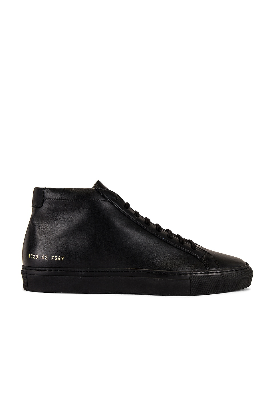 Common Projects Original Leather Achilles Mid in Black