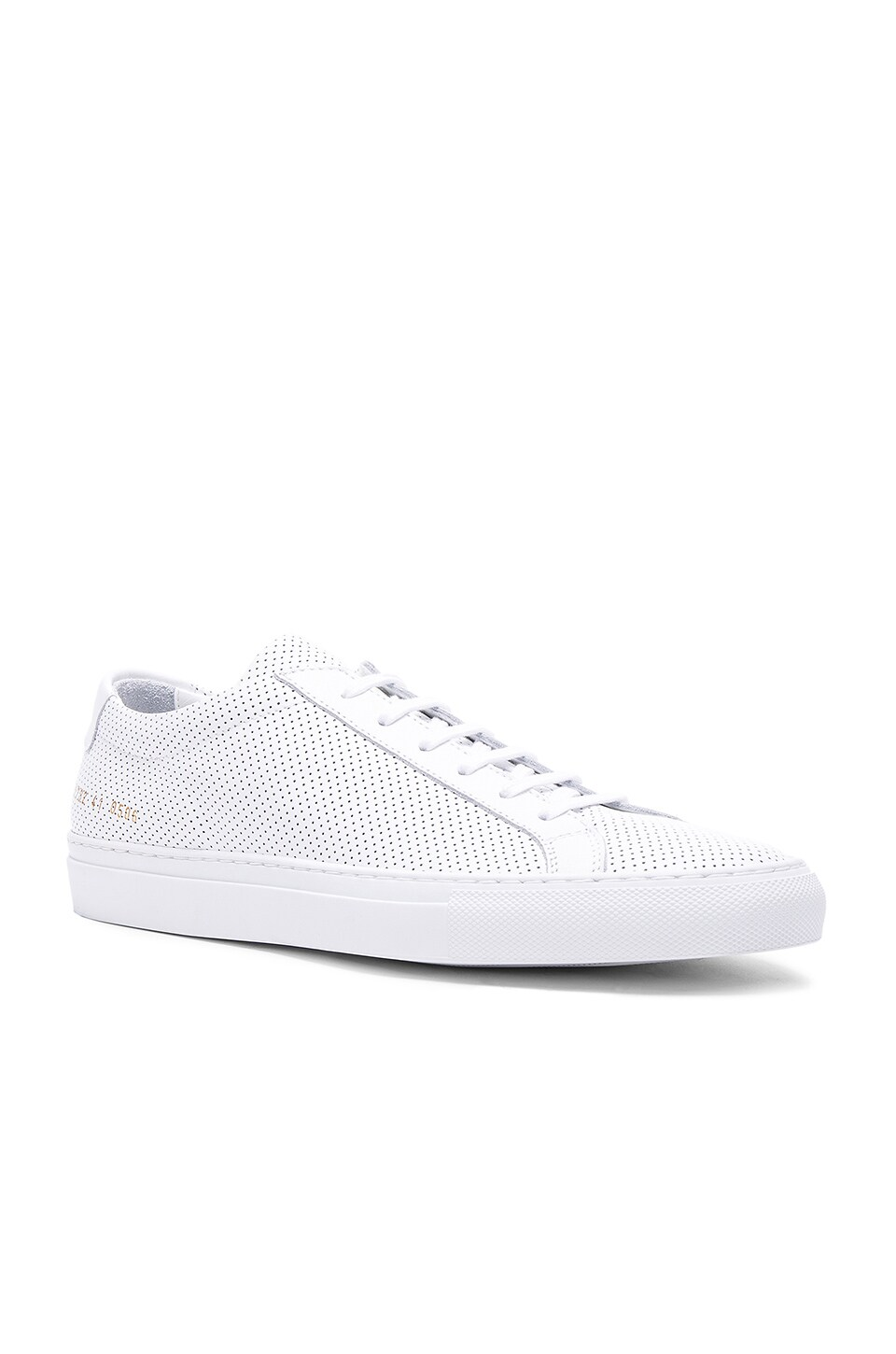 Common Projects Original Perforated Leather Achilles Low en White