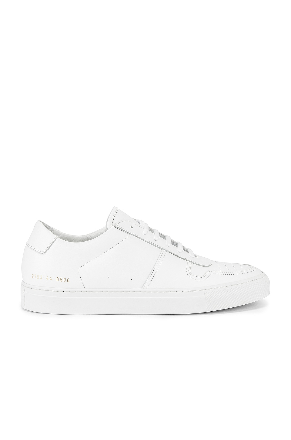 Common Projects Leather BBall Low in White