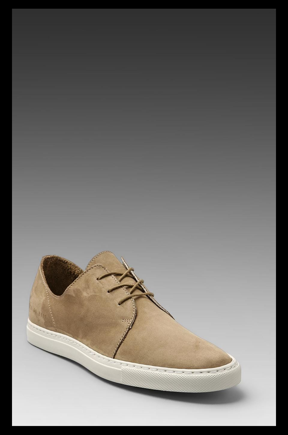 Common Projects Rec in Nubuck in Olive Grey