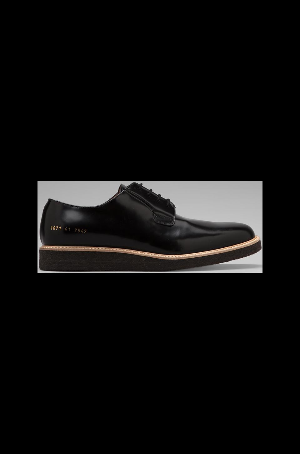 Common Projects Derby Shiny in Black