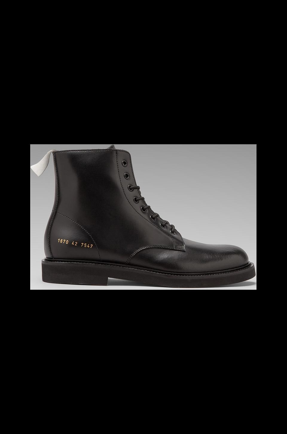 Common Projects Combat Boot in Black