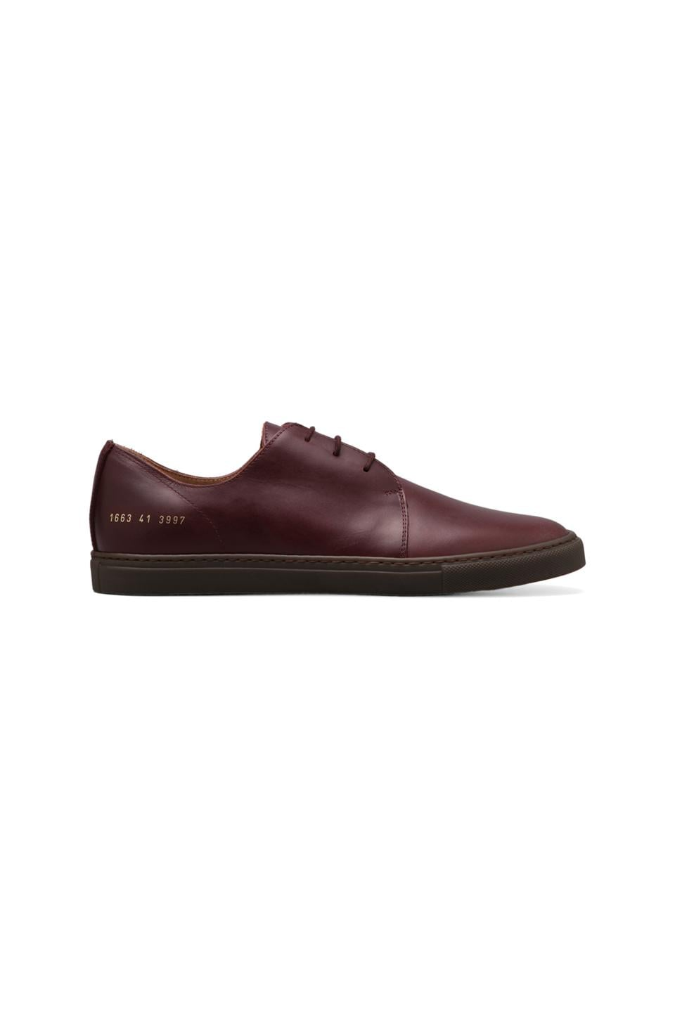 Common Projects Rec in Leather in Oxblood