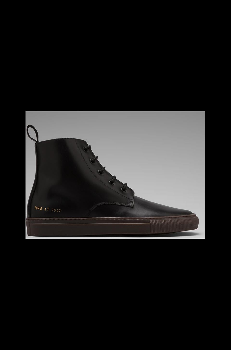 Common Projects Training Boot in Leather in Black