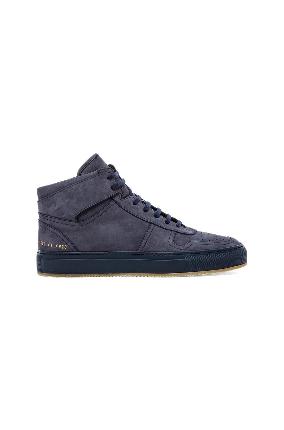 Common Projects Bball High in Navy