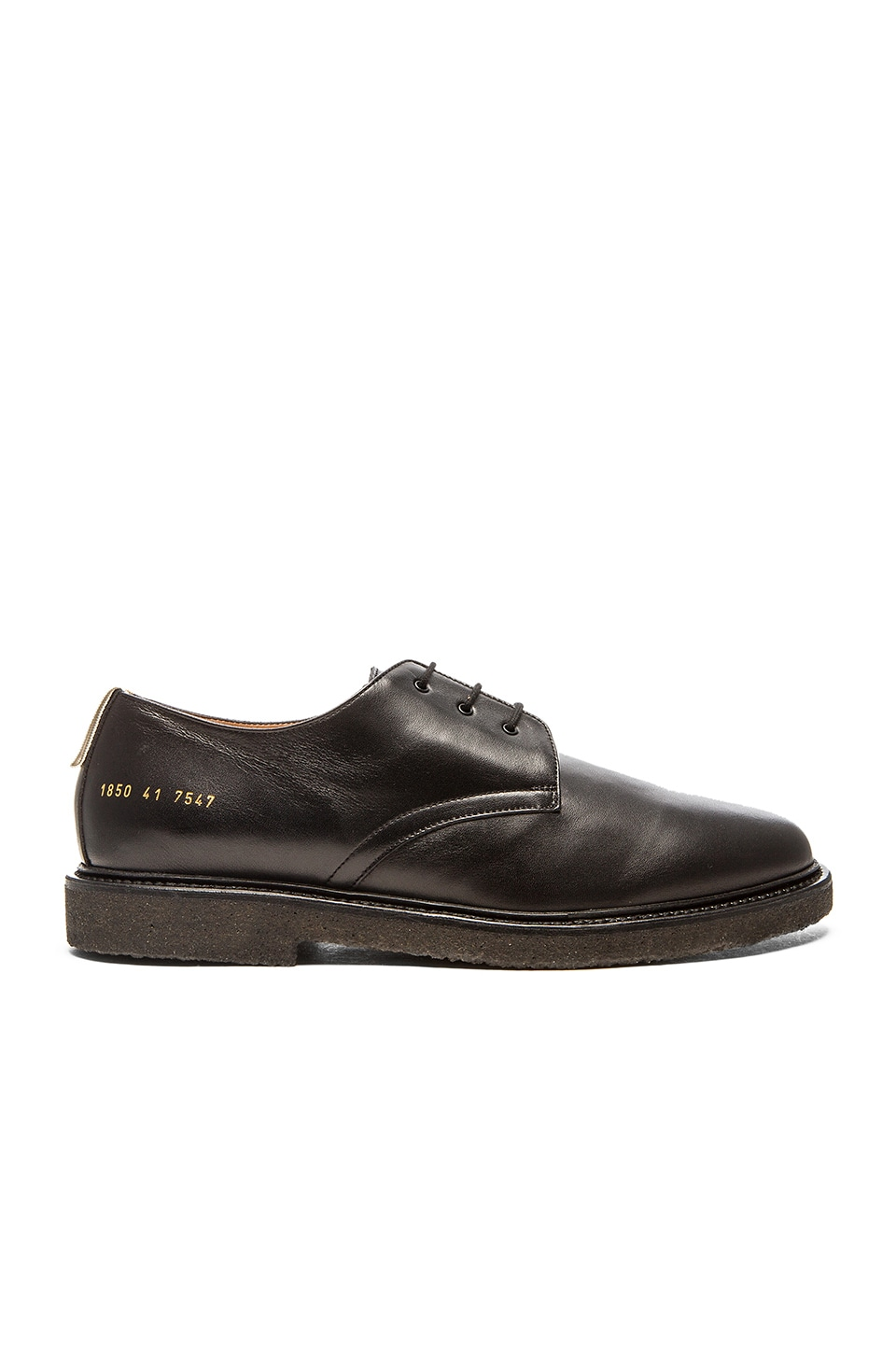 common projects cadet leather derby shoes