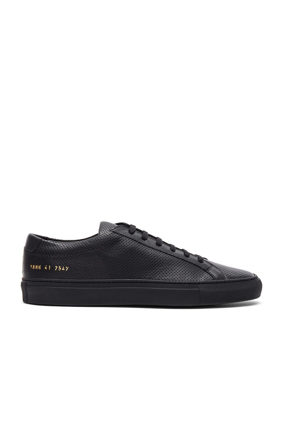 Achilles Perforated in Black by Common Projects